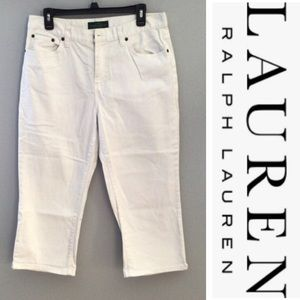 Summer Lauren white denim  capri jeans size 10